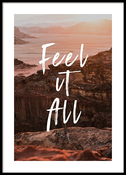 Feel It All Poster in the group Prints / Sizes / 50x70cm | 20x28 at Desenio AB (12788)