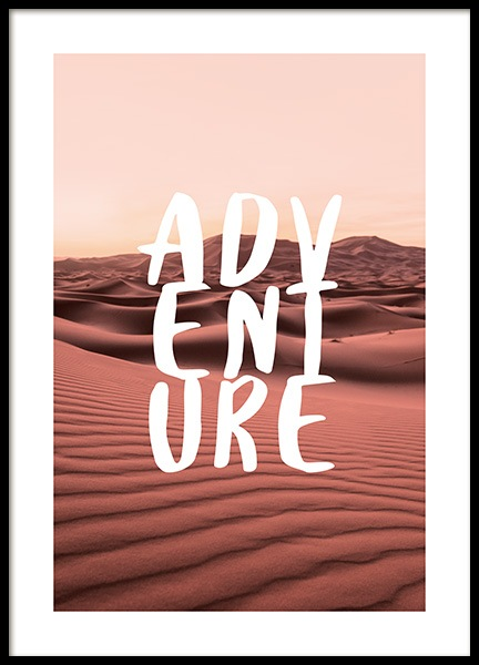 Adventure Landscape Poster in the group Prints / Typography & quotes at Desenio AB (12789)