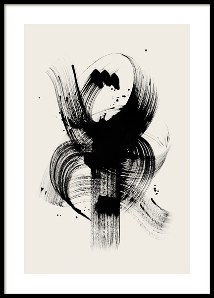 Ink Touch No2 Poster in the group Prints / Art prints at Desenio AB (12807)