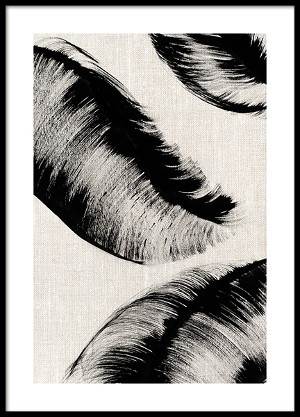 Ink Leaves No2 Poster in the group Prints / Art prints at Desenio AB (12809)