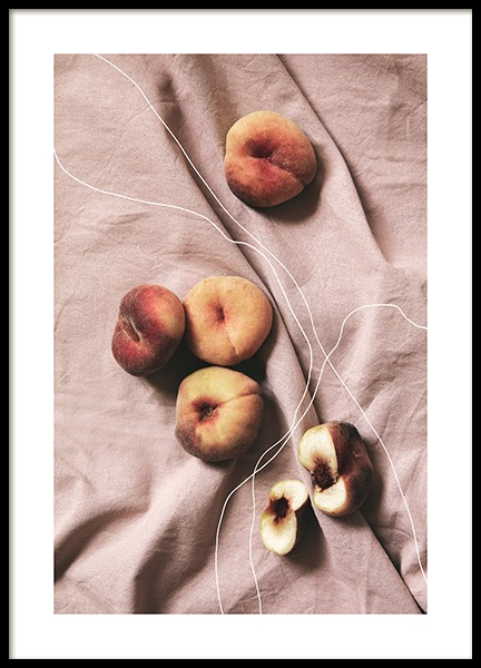 Peaches on Linen Poster in the group Prints / Kitchen at Desenio AB (12815)