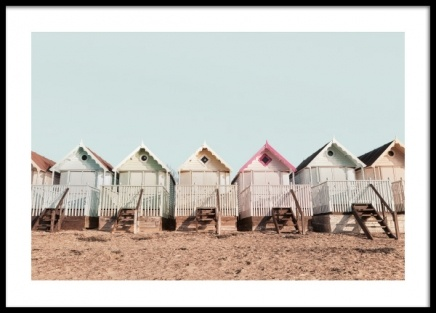 Beach Huts Poster in the group Prints / Photographs at Desenio AB (12830)