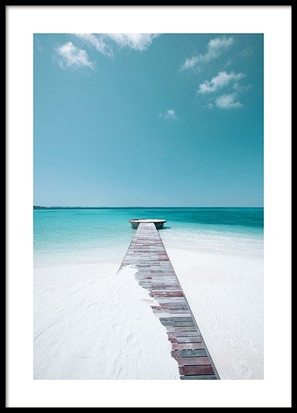 White Sand Beach Poster in the group Prints / Nature at Desenio AB (12835)