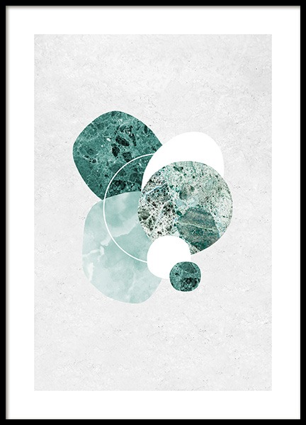 Mint Marble Poster in the group Prints / Art prints / Abstract art at Desenio AB (12846)