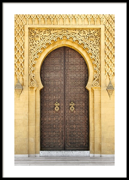 Oriental Door Poster in the group Prints / Photographs at Desenio AB (12863)