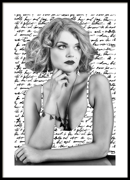 Newspaper Girl Poster in the group Prints / Black & white at Desenio AB (12870)