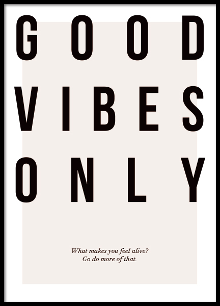 Good Vibes Only Poster in the group Prints / Text posters at Desenio AB (12873)