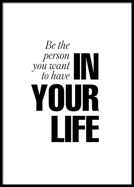 In Your Life Poster in the group Prints / Typography & quotes at Desenio AB (12879)
