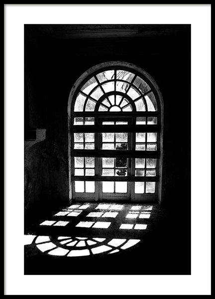 Arched Window Poster in the group Prints / Black & white at Desenio AB (12901)