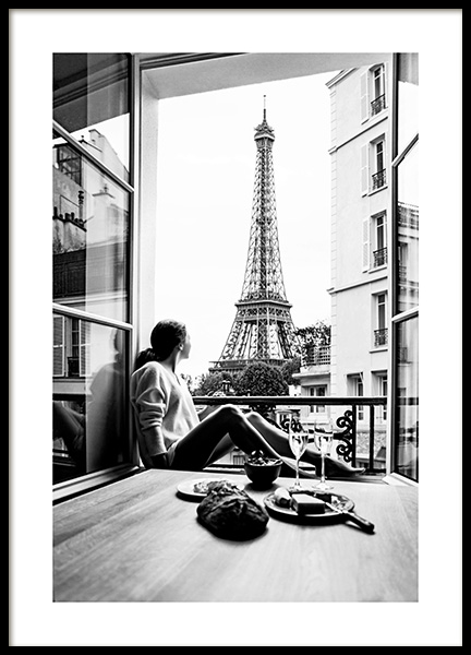 Lunch With a View Poster in the group Prints / Black & white at Desenio AB (12903)