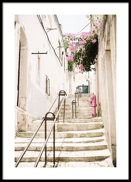 Lisbon Stairs Poster in the group Prints / Photographs at Desenio AB (12926)