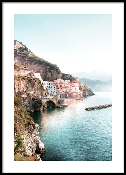 Amalfi View Poster in the group Prints / Nature at Desenio AB (12930)