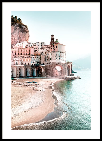 Amalfi Cityscape Poster in the group Prints / Nature prints / Beaches at Desenio AB (12931)