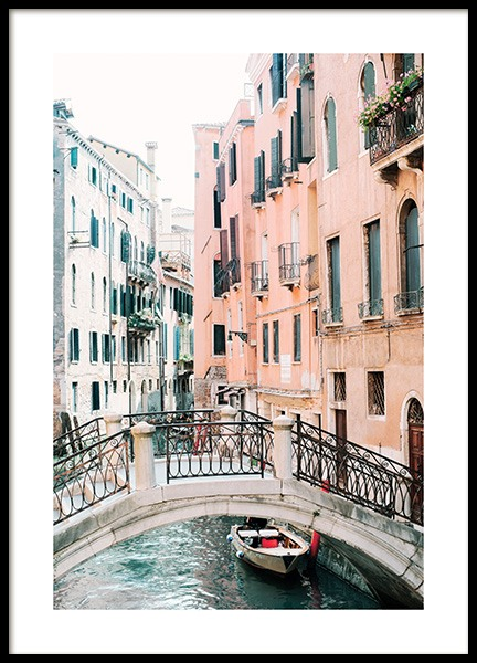 Canal in Venice Poster in the group Prints / Photographs at Desenio AB (12932)