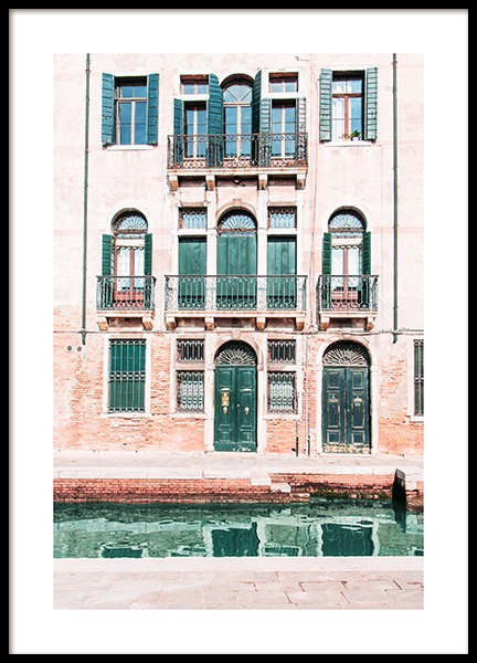 Venice Facade Poster in the group Prints / Maps & cities / European cities at Desenio AB (12934)