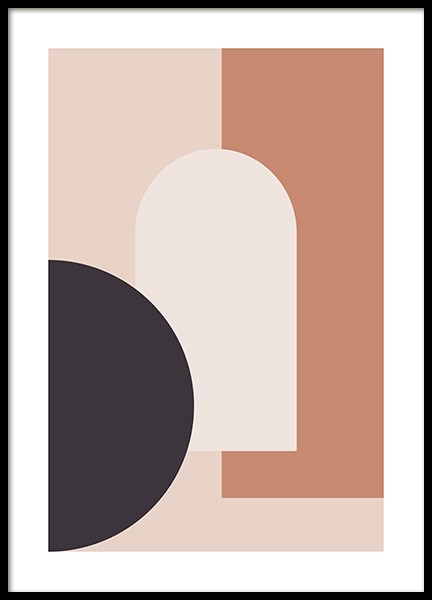 Graphic Geometric Shapes No2 Poster in the group Prints / Art prints at Desenio AB (13033)