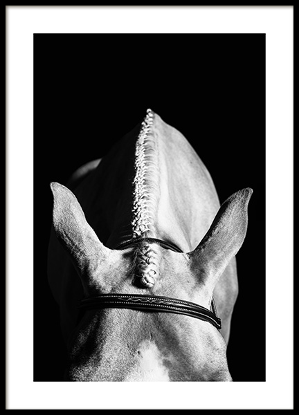 Horse Hairstyle Poster in the group Prints / Black & white at Desenio AB (13038)