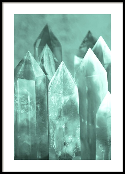 Mint Crystals Poster in the group Prints / Photographs at Desenio AB (13045)