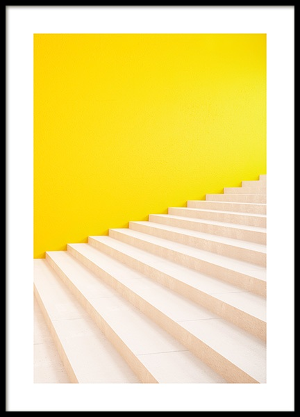 Yellow Stairs Poster in the group Prints / Photographs at Desenio AB (13051)