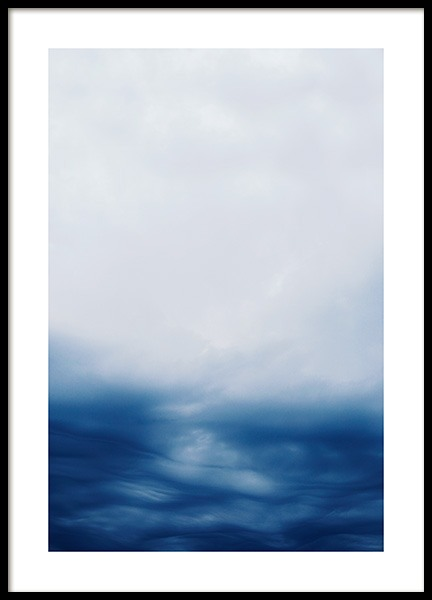 Blue Clouds in Sky Poster in the group Prints / Nature at Desenio AB (13062)