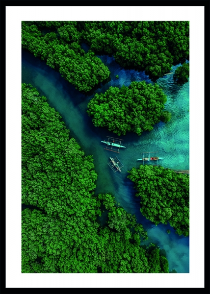 Aerial River View Poster in the group Prints / Nature prints / Tropical at Desenio AB (13068)