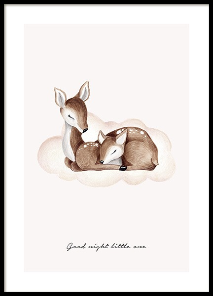 Good Night Little One Poster in the group Prints / Kids posters / Baby at Desenio AB (13073)