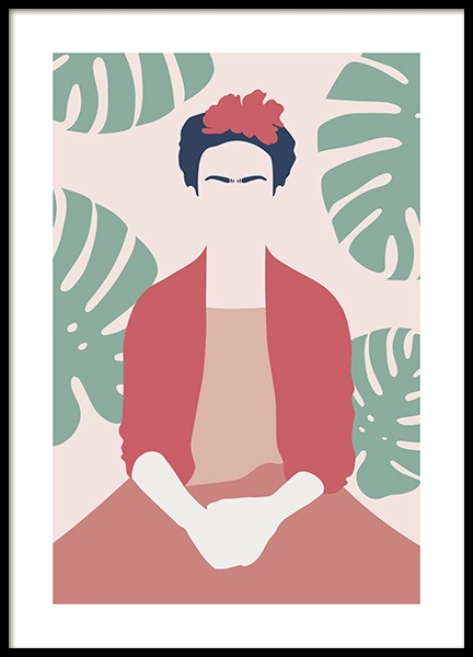Frida Kahlo Abstract Poster in the group Prints / Art prints at Desenio AB (13095)