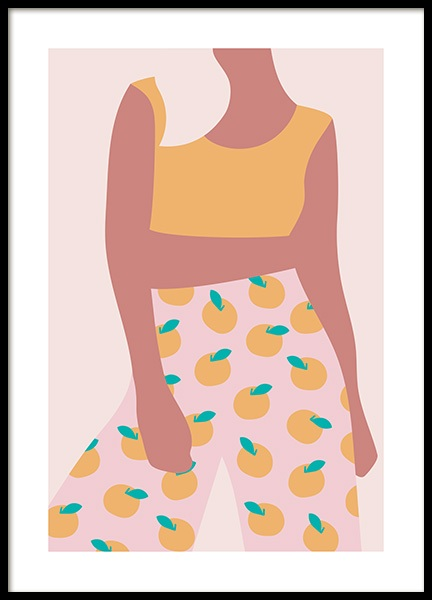 Lemon Girl Poster in the group Prints / Art prints at Desenio AB (13097)
