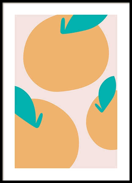 Abstract Lemons Poster in the group Prints / Art prints at Desenio AB (13098)