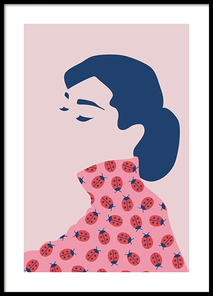 Audrey Hepburn Abstract Poster in the group Prints / Art prints at Desenio AB (13099)