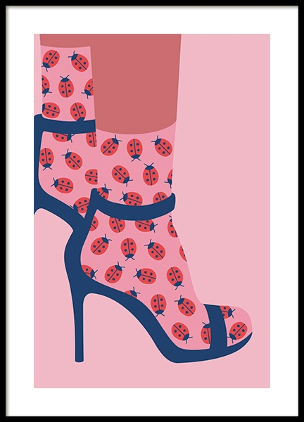 Ladybird Socks in Heels Poster in the group Prints / Art prints at Desenio AB (13100)