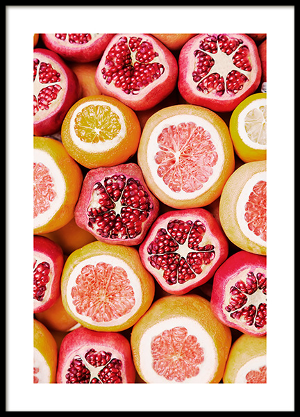 Exotic Fruits Poster in the group Prints / Kitchen at Desenio AB (13103)