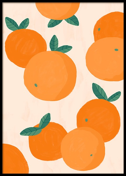 Oranges Illustration Poster in the group Prints / Kitchen at Desenio AB (13105)