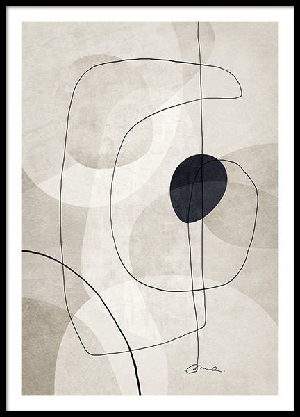 Beige Graphics No1 Poster in the group Prints / Art prints / Abstract art at Desenio AB (13116)