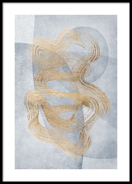Golden Swirls No2 Poster in the group Prints / Art prints at Desenio AB (13123)