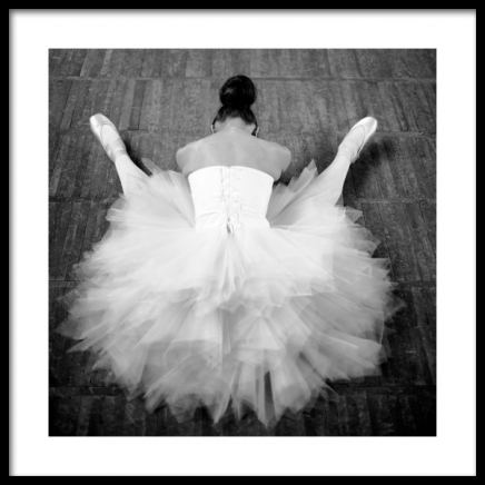 Resting Ballerina Poster in the group Prints / Black & white at Desenio AB (13138)