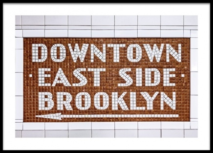 Downtown East Side Sign Poster in the group Prints / Text posters at Desenio AB (13141)