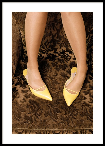 Yellow Heels Poster in the group Prints / Photographs at Desenio AB (13143)