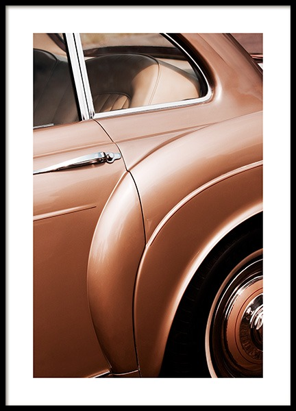 Bronze Car Poster in the group Prints / Photographs at Desenio AB (13147)