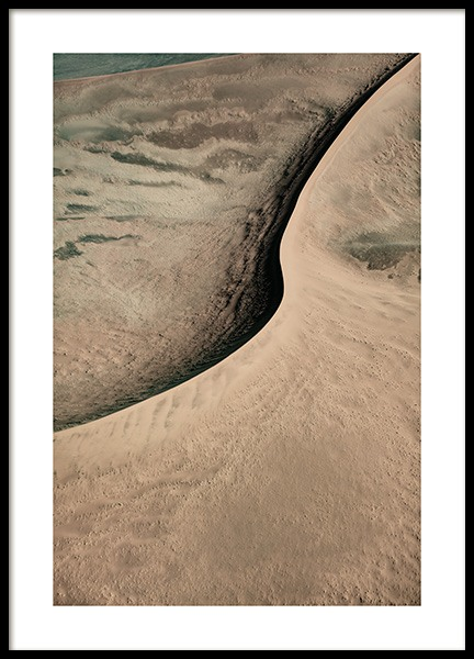Abstract Sand Dune Poster in the group Prints / Nature at Desenio AB (13161)