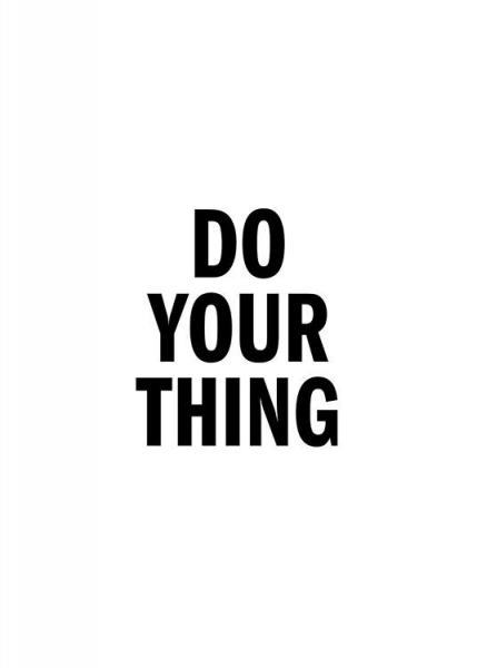 Do Your Thing Poster in the group Prints / Typography & quotes at Desenio AB (13175)
