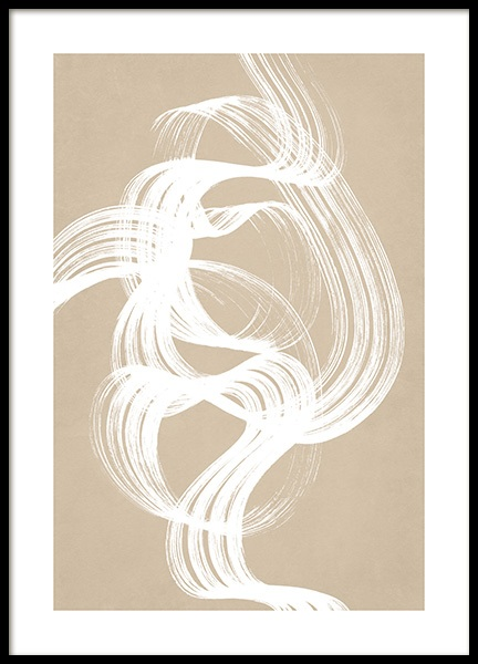 White Brush Stroke No2 Poster in the group Prints / Art prints at Desenio AB (13211)