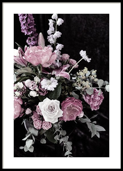 Dark Flowers No1 Poster in the group Prints / Photographs at Desenio AB (13212)
