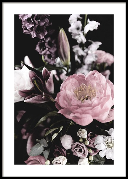 Dark Flowers No4 Poster in the group Prints / Photographs at Desenio AB (13215)