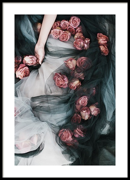 Roses and Tulle Poster in the group Prints / Photographs at Desenio AB (13218)