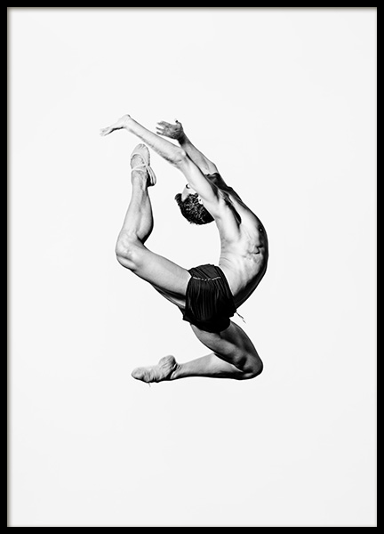 Dance More Ballet Poster in the group Prints / Black & white at Desenio AB (13244)