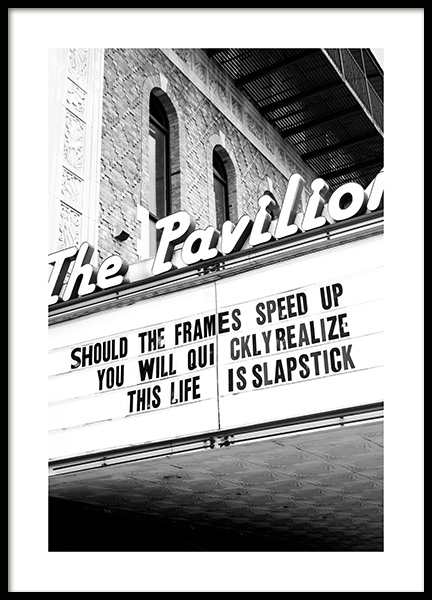 The Pavilion Poster in the group Prints / Black & white at Desenio AB (13252)