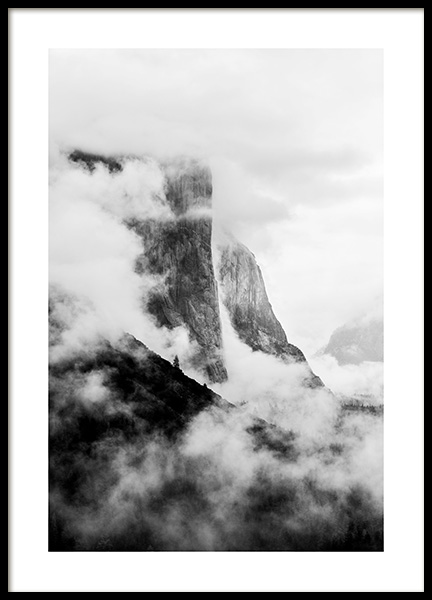 El Capitan Poster in the group Prints / Black & white at Desenio AB (13254)