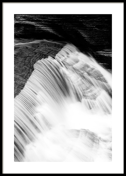Waterfall B&W Poster in the group Prints / Black & white at Desenio AB (13255)