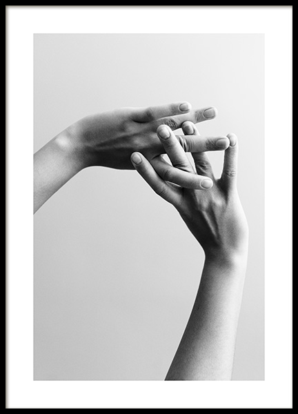 Entangled Fingers No2 Poster in the group Prints / Black & white at Desenio AB (13261)